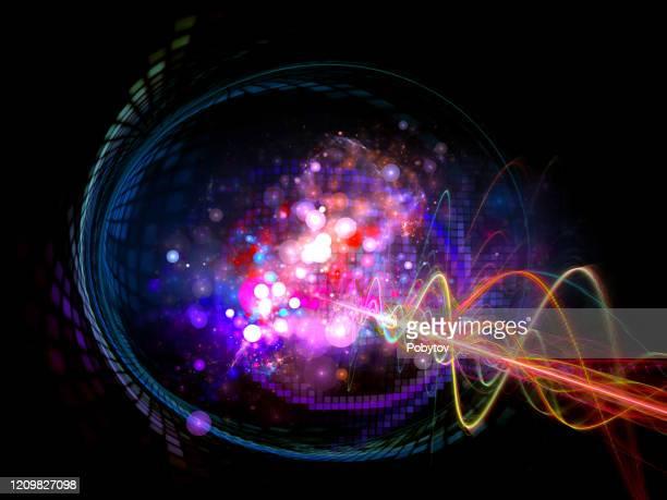 素粒子爆発,科学のメタファー,物理学,数学 - 放出する点のイラスト素材/クリップアート素材/マンガ素材/アイコン素材