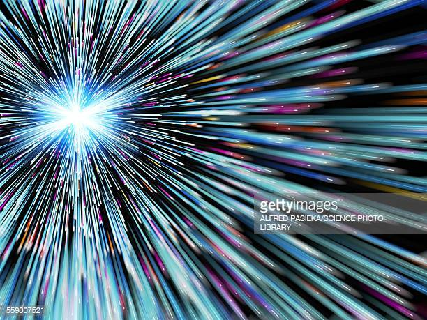 Particle rays, artwork