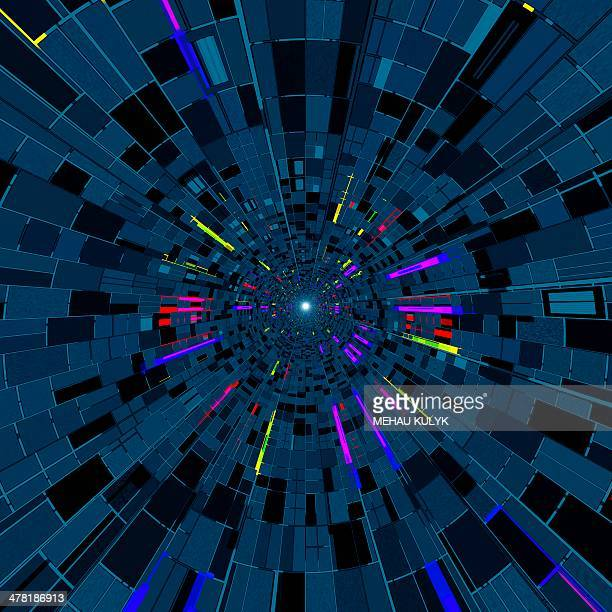 Particle tracks, conceptual artwork