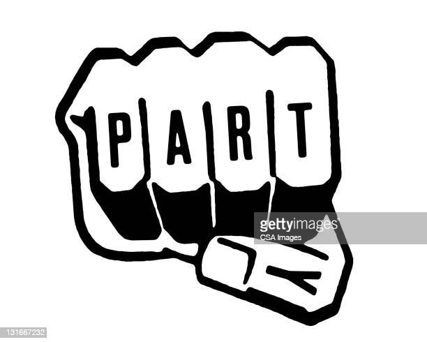 party fist - strength stock illustrations