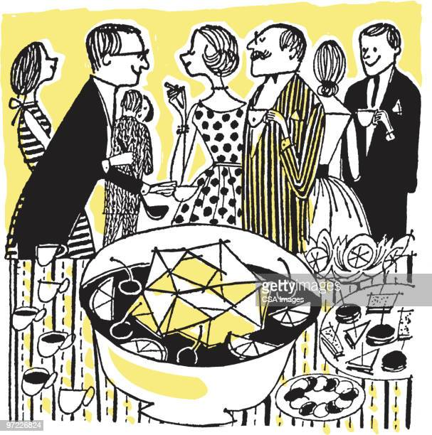 party scene - party social event stock illustrations