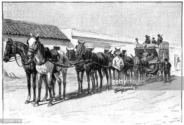 Passenger transport with horsedrawn carriage in cantabria  1895