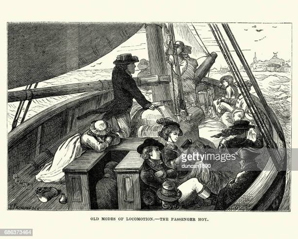 Passengers travelling on a Hoy Sailing Boat, c.1870