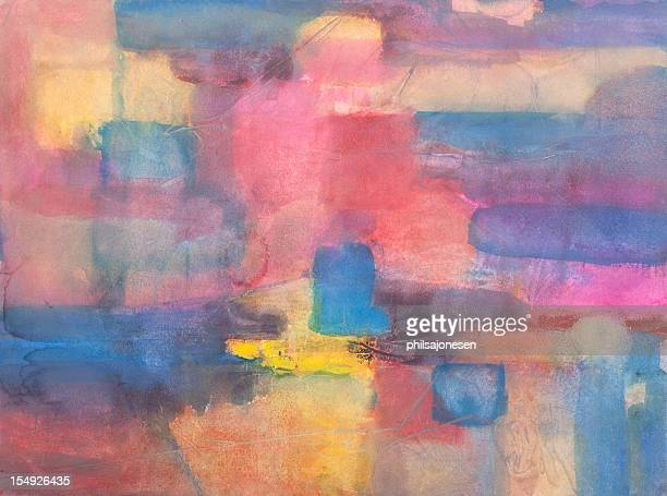 pastel abstract painting - saturated colour stock illustrations