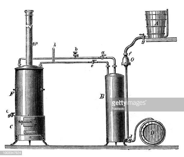 pasteurization apparatus - bong stock illustrations