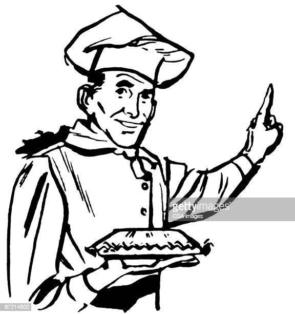 pastry chef - chef stock illustrations