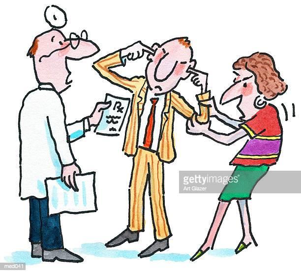 patient in denial - ignoring stock illustrations, clip art, cartoons, & icons