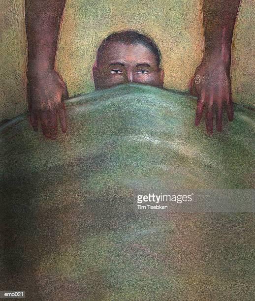 Patient Under Green Blanket