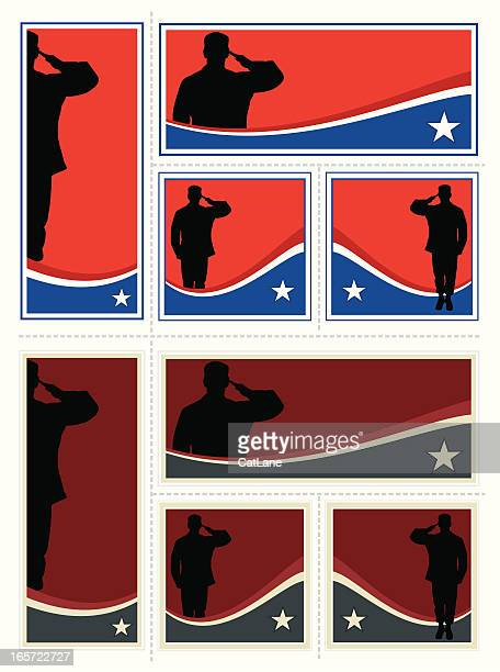 patriotic soldier set - us military stock illustrations, clip art, cartoons, & icons