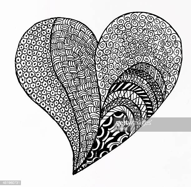 Pattern Heart Drawing