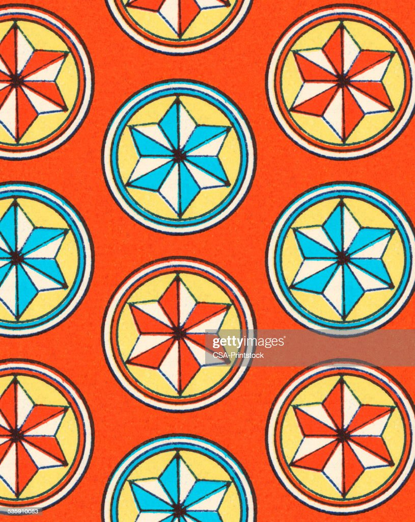 Pattern of Star Shapes : Stock Illustration