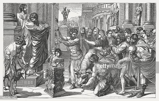 Paul and Barnabas (Acts 14) by Raphael, published in 1878