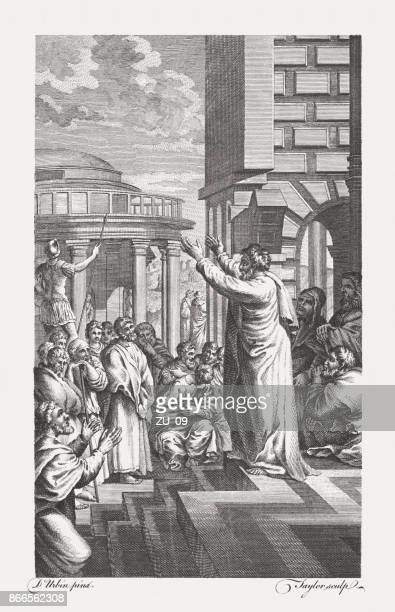 Paul preaching to the Athenians (Acts 17), published in 1771