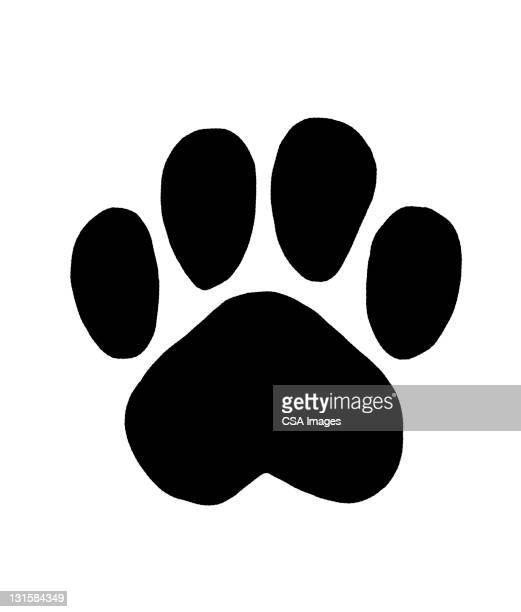 paw print - dog stock illustrations