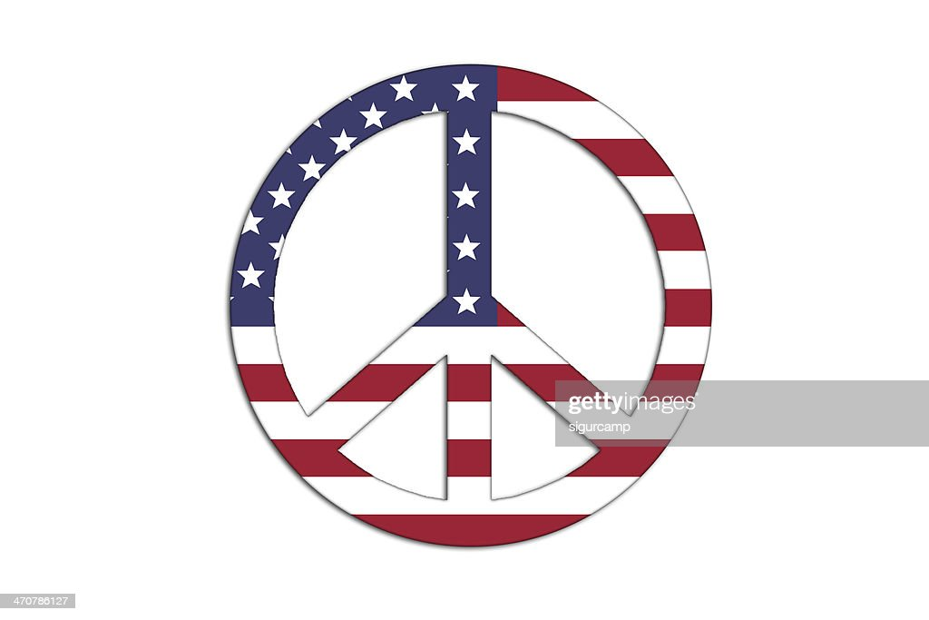 Peace And Love Symbol Stock Illustration Getty Images
