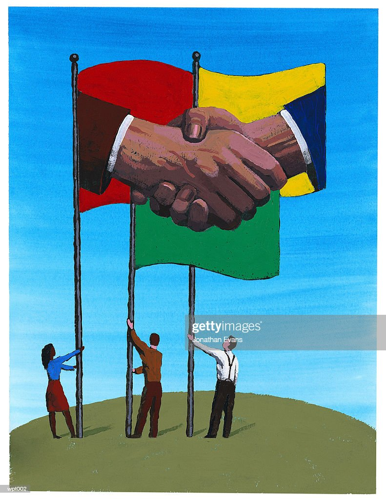 Peace & Equality Across Nations : Stockillustraties