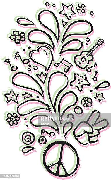 Peace And Love Stock Illustrations Getty Images
