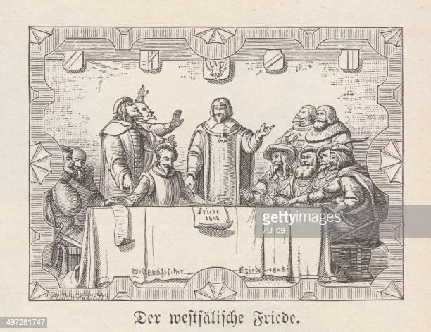 ilustrações, clipart, desenhos animados e ícones de paz de vestfália - north rhine westphalia