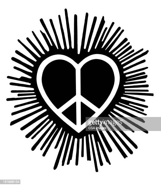 Peace Symbol Heart Stock Illustration Getty Images