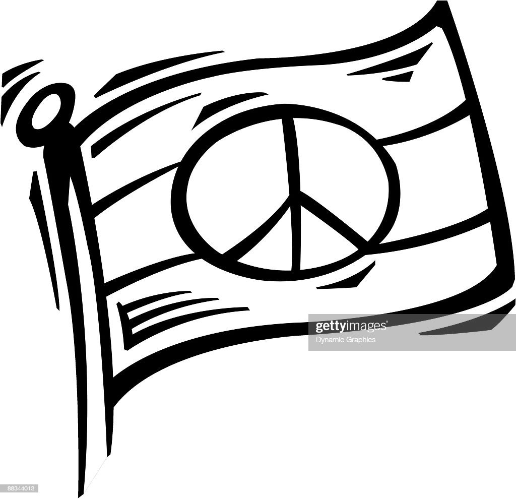 A Peace Symbol On A Flag Vector Art Getty Images