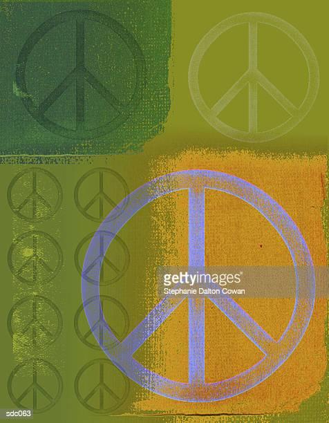 peace symbols - medium group of objects stock illustrations, clip art, cartoons, & icons
