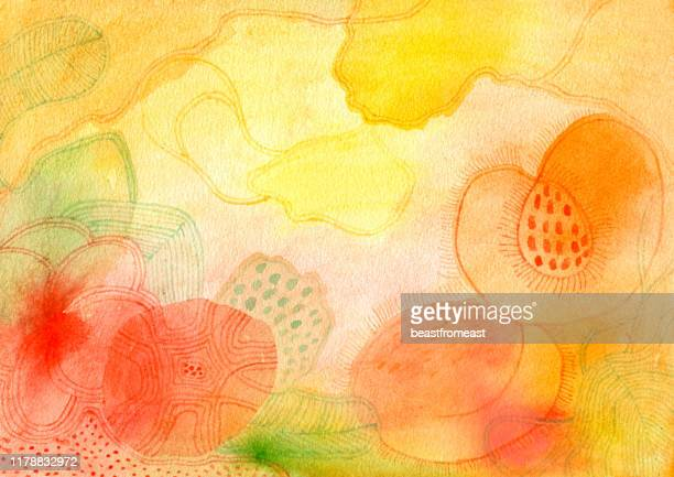桃とバラの風味の水 - ピーチカラー点のイラスト素材/クリップアート素材/マンガ素材/アイコン素材