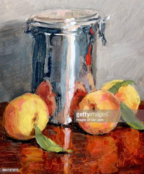 peaches - peach colour stock illustrations