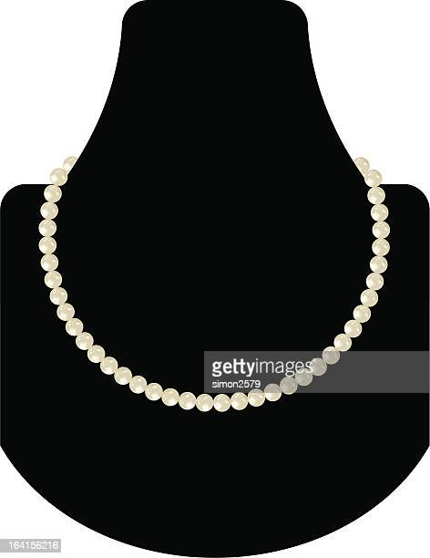pearl necklace - necklace stock illustrations, clip art, cartoons, & icons