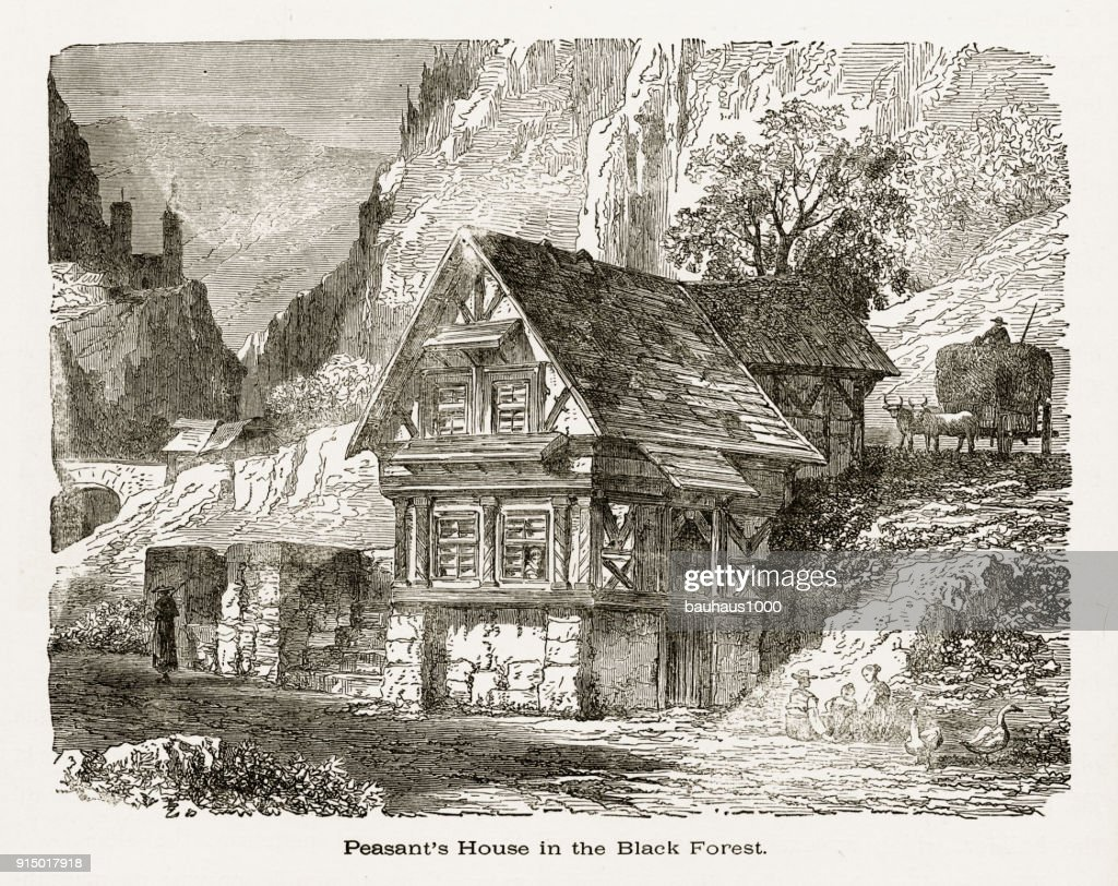peasants house in black forest badenw rttemberg germany circa 1887 stock illustration getty images