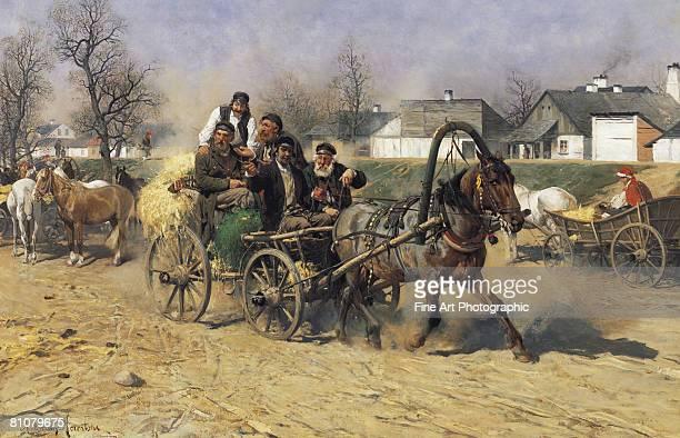 Peasants leaving a horse fair