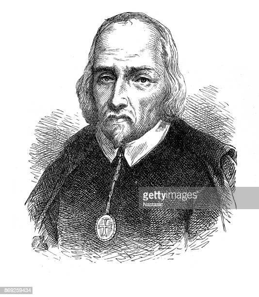 stockillustraties, clipart, cartoons en iconen met pedro calderón de la barca (17 januari 1600 – 25 mei 1681), was een toneelschrijver, dichter en schrijver - pedo