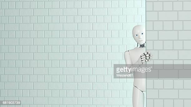 Peeking robot, 3D Rendering