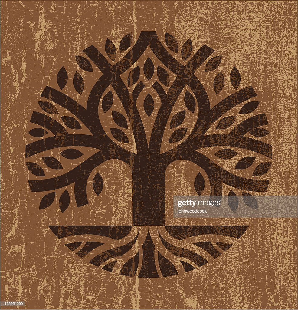 Peeling paint tree : stock illustration
