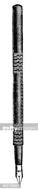 ilustraciones, imágenes clip art, dibujos animados e iconos de stock de bolígrafo - monoimpresión