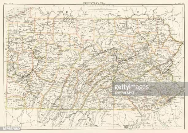 Pennsylvania map 1885
