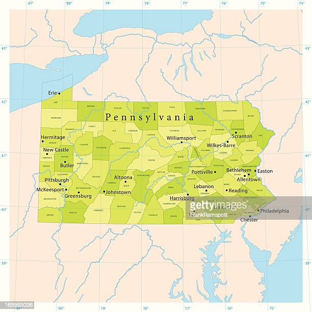 Pennsylvania Vector Map
