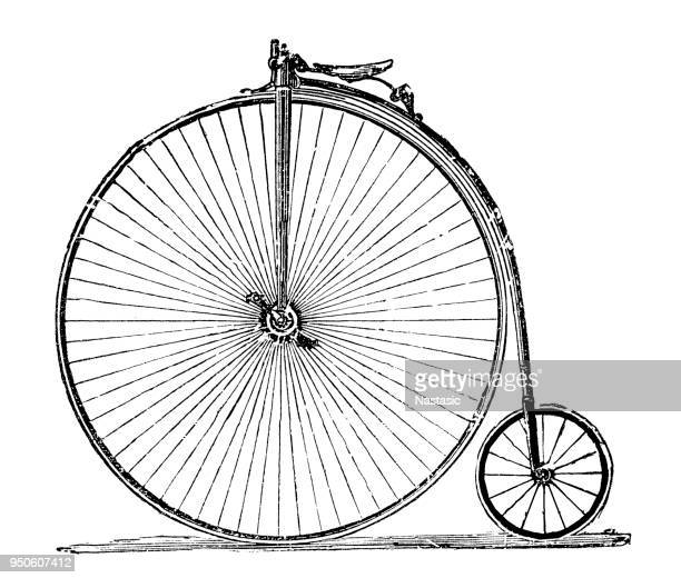penny-farthing bicycle - ferris wheel stock illustrations, clip art, cartoons, & icons