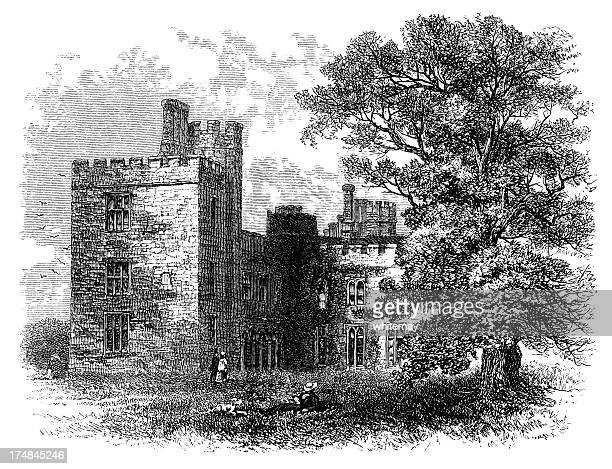 Penshurst Place, Kent (Victorian engraving)