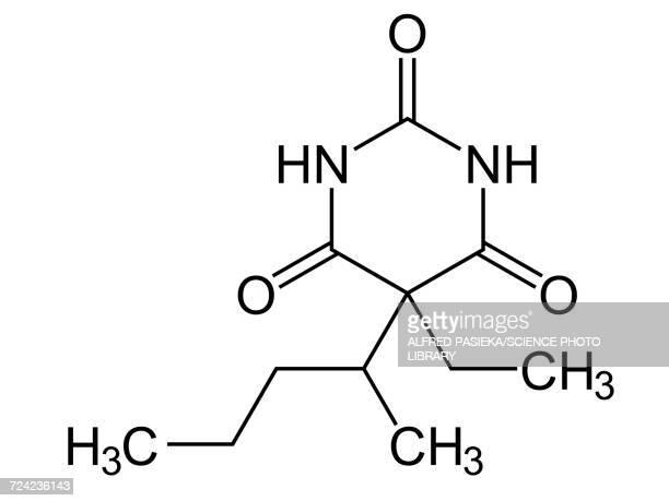 Pentobarbital, structural formula