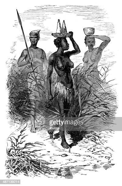 ilustrações, clipart, desenhos animados e ícones de pessoas e as tradições do mundo: tm - ethiopia