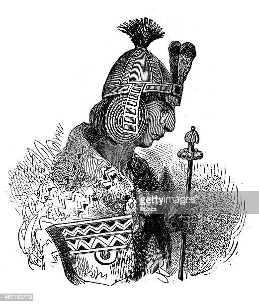 people and traditions of the world: incas emperor - inca stock illustrations, clip art, cartoons, & icons
