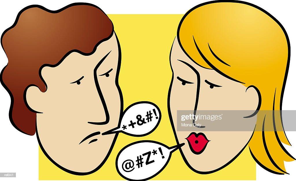 People Arguing : Ilustração de stock