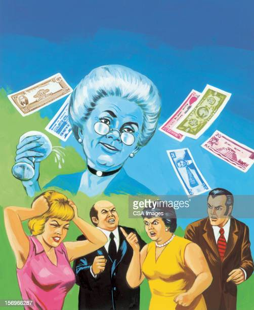 people arguing over money - family fighting cartoon stock illustrations