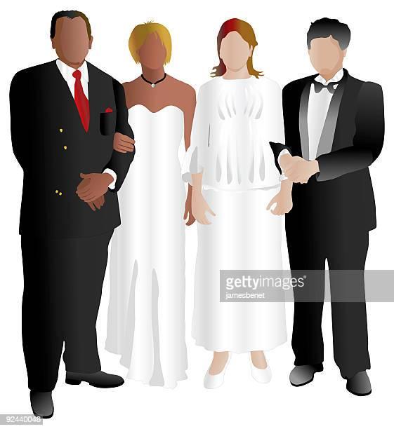 Transparent Prom Couple Clipart - Illustration , Free Transparent Clipart -  ClipartKey