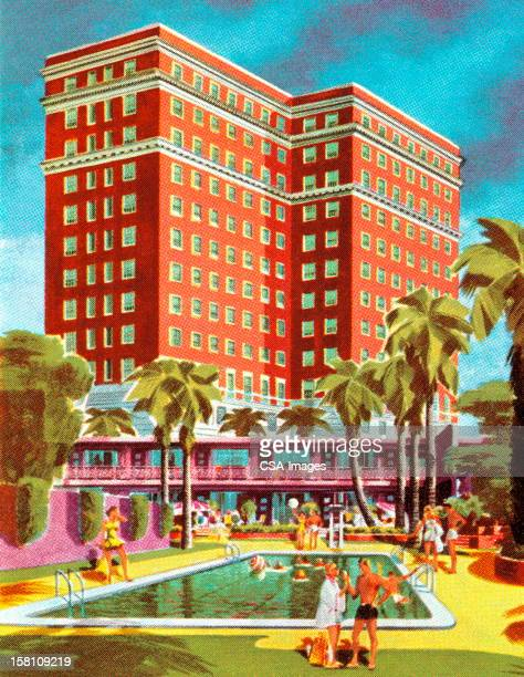 People At Hotel Pool