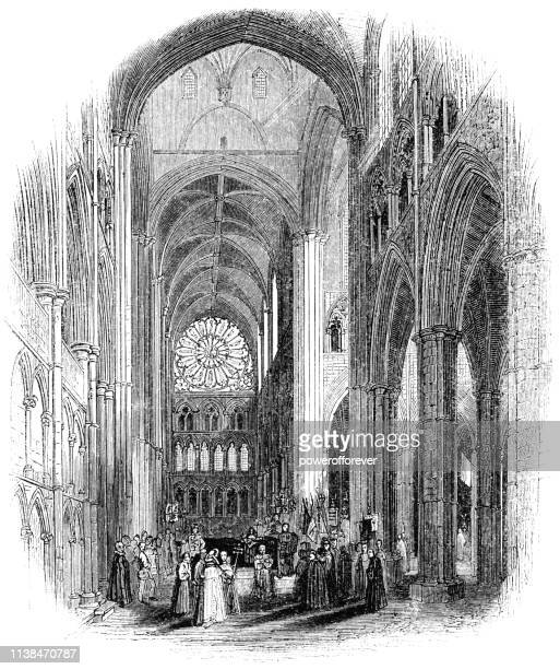 People at Westminster Abbey in Westminster, London, England - 15th Century