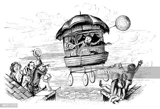 flying car cartoon drawing