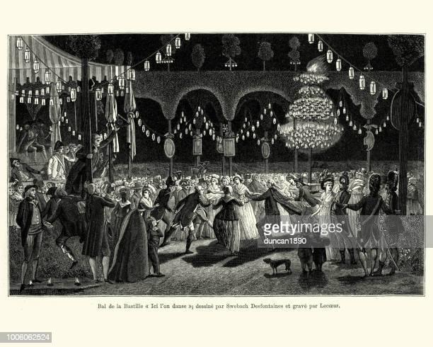 フランス 18 世紀後半のフランス革命記念日ボールで踊る人々 - 舞踏会点のイラスト素材/クリップアート素材/マンガ素材/アイコン素材
