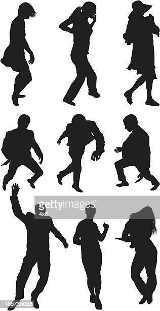 people dancing - human body part stock illustrations