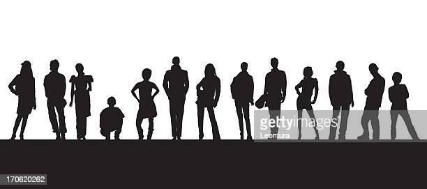 people - young adult stock illustrations, clip art, cartoons, & icons
